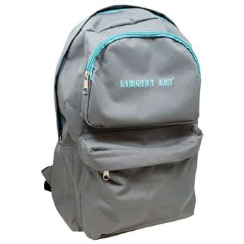 Economy Backpack Gray/Teal Zipper, SAR985022