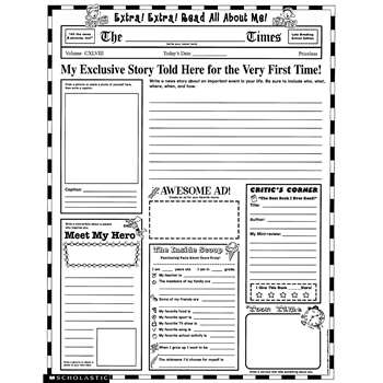 Instant Personal Poster Sets Extra Extra Read All About Me By Scholastic Books Trade