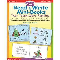 25 Read & Write Minibooks That Teach Word Families By Scholastic Books Trade