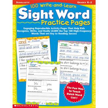 100 Write And Learn Sight Word Practice Pages By Scholastic Books Trade