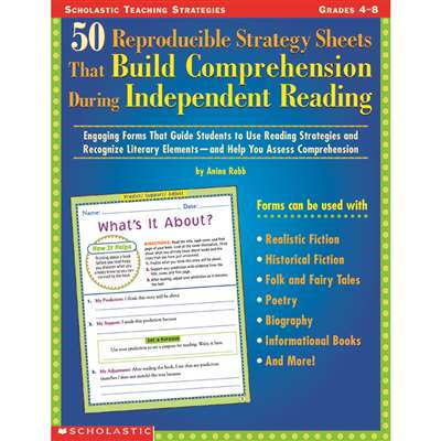 50 Reproducible Strategy Sht Gr 4-8 That Build Comprehension By Scholastic Books Trade