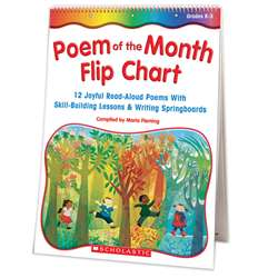 Poem Of The Month Flip Chart By Scholastic Books Trade