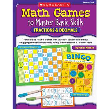 Math Games To Master Basic Skills Fractions & Decimals By Scholastic Books Trade