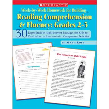 Week-By-Week Homework For Building Reading Comprehension & Fluency Gr By Scholastic Books Trade
