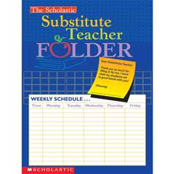 Substitute Teacher Folder By Scholastic Books Trade