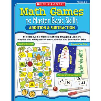 Math Games To Master Basic Skills Addition & Subtraction By Scholastic Books Trade