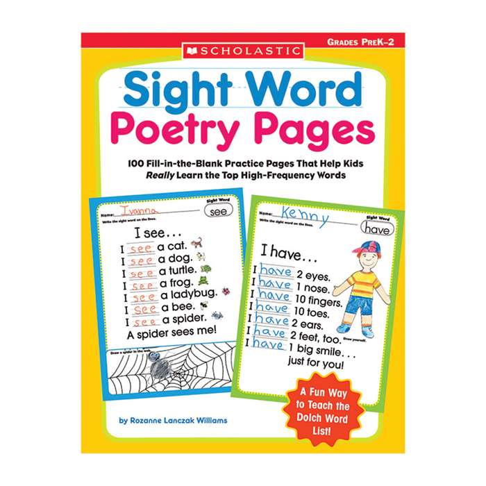 Sight Word Poetry Pages By Scholastic Books Trade