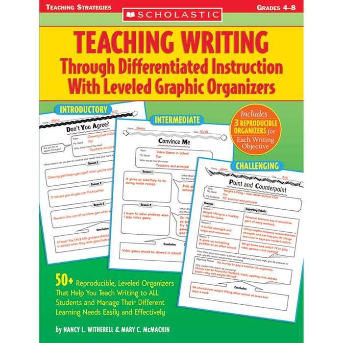 Teaching Writing Through Differentiated Instruction With By Scholastic Books Trade