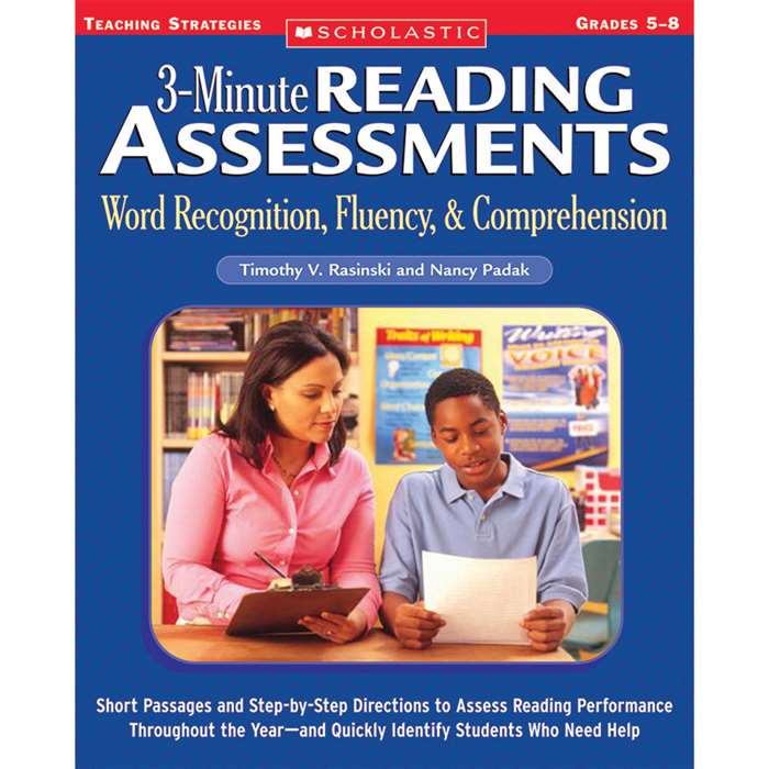 3 Minute Reading Assessments Word Recognition Gr 5-8 By Scholastic Books Trade