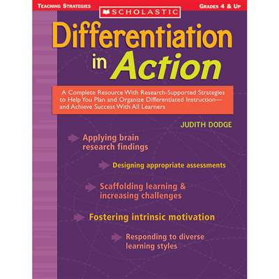 Differentiation In Action By Scholastic Books Trade