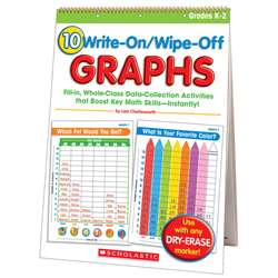 10 Write On Wipe Off Graphs Flip Chart By Scholastic Books Trade