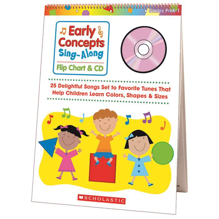 Early Concepts Singalong Flip Chart & Cd By Scholastic Books Trade