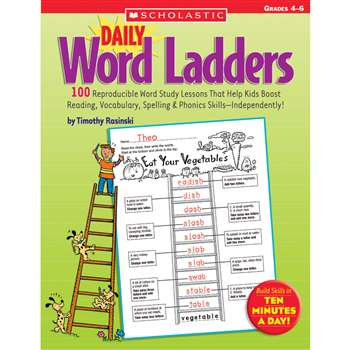 Daily Word Ladders Gr 4-6 By Scholastic Books Trade