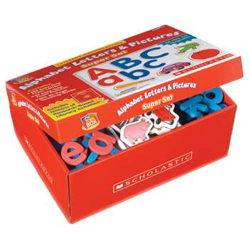 Little Red Tool Box Alphabet Letters & Pictures Super Set By Scholastic Books Trade