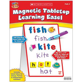 Little Red Tool Box Magnetic Tabletop Learning Easel By Scholastic Books Trade