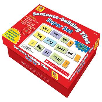 Little Red Tool Box Sentence Building Tiles Super Set By Scholastic Books Trade