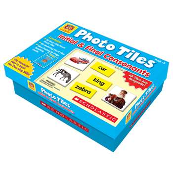 Photo Tiles Initial & Final Consonants By Scholastic Books Trade