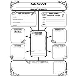 All About Me Web Graphic Organizer Posters By Scholastic Books Trade