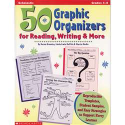 50 Graphic Organizers For Reading By Scholastic Books Trade