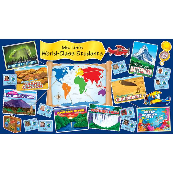 Wonders Of The World Bulletin Board Set By Scholastic Books Trade