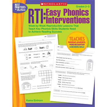 Rti Easy Phonics Interventions By Scholastic Books Trade