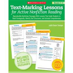 Text Marking Lessons For Active Non Fiction Reading Gr 2-3 By Scholastic Books Trade