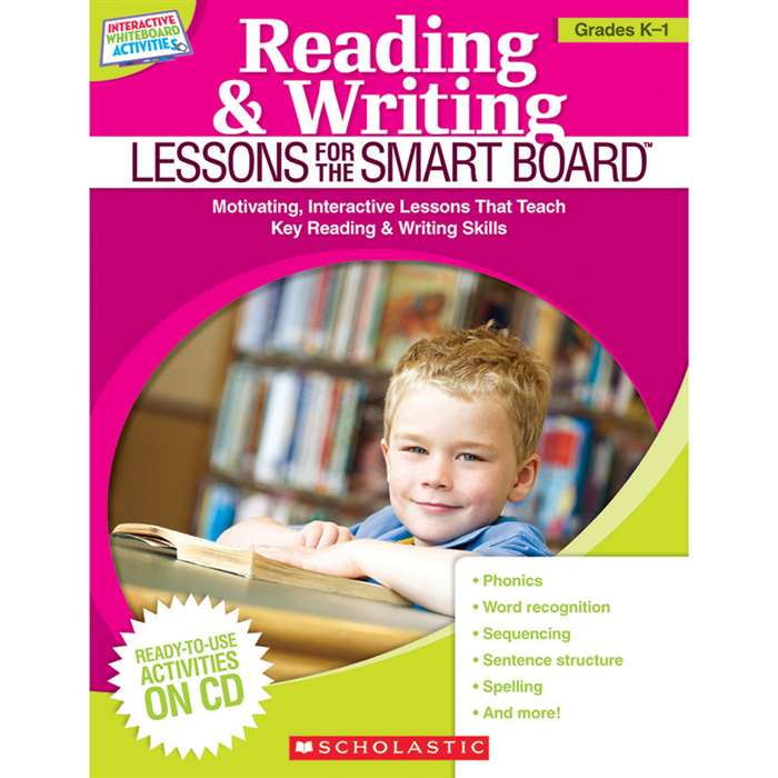 Reading & Writing Lessons Gr K-1 For The Smart Board By Scholastic Books Trade