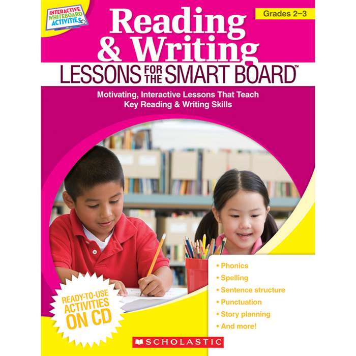 Reading & Writing Lessons Gr 2-3 For The Smart Board By Scholastic Books Trade