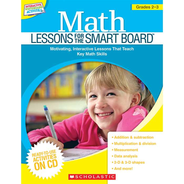 Math Lessons Gr 2-3 For The Smart Board By Scholastic Books Trade