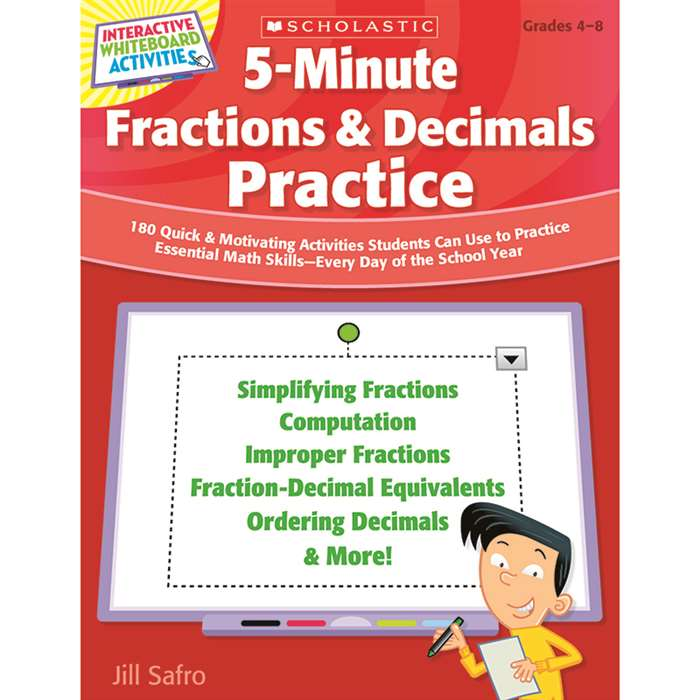 5 Minute Fractions & Decimals Practice By Scholastic Books Trade