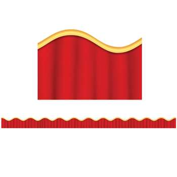Stage Curtain Scalloped Trimmer By Scholastic Books Trade