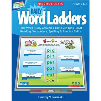 Daily Word Ladders Gr 1-2 Interactive Whiteboard Activities By Scholastic Books Trade