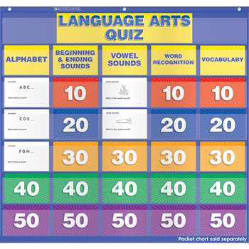 Language Arts Class Quiz K-1 Pocket Chart Add Ons By Scholastic Books Trade