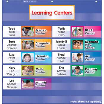 Learning Centers Pocket Chart Add Ons By Scholastic Books Trade