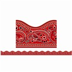 Red Bandanna Scalloped Trimmer By Scholastic Books Trade
