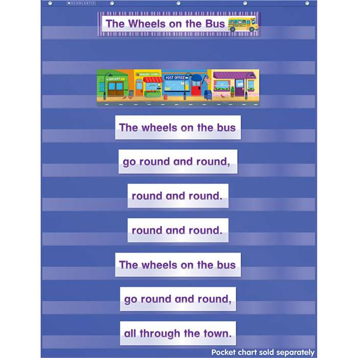Favorite Kids Songs Pocket Chart Add Ons By Scholastic Books Trade