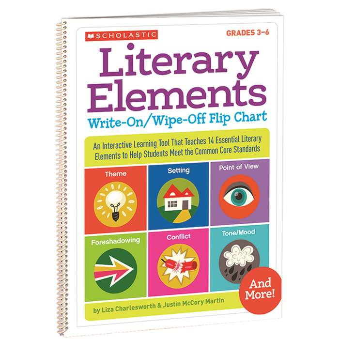 Literary Elements Write On Wipe Off Flip Chart By Scholastic Teaching Resources