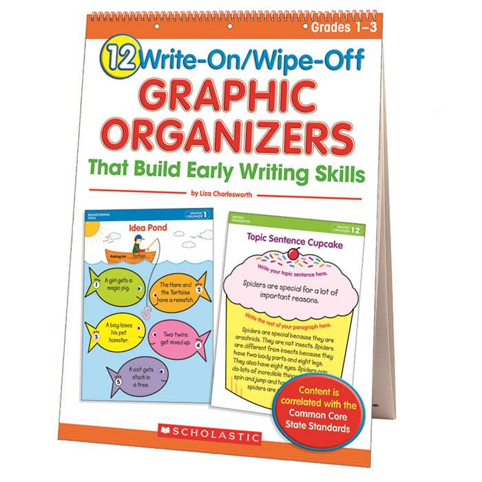 12 Write On Wipe Off Graphic Organizers Early Writing Skills Fc By Scholastic Teaching Resources