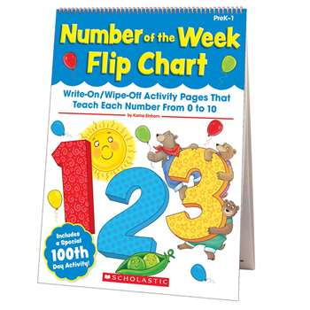Number Of The Week Flip Chart By Scholastic Teaching Resources
