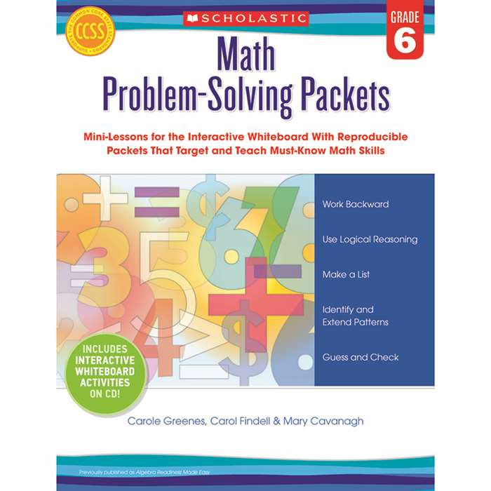Math Problem Solving Packets Gr 6 By Scholastic Books Trade