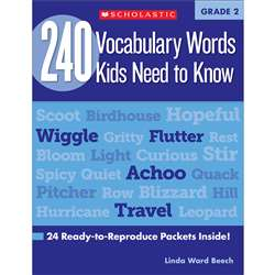 240 Vocabulary Words Kids Need To Know Gr 2 By Scholastic Books Trade