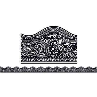 Black Bandana Scalloped Trimmers By Scholastic Teaching Resources