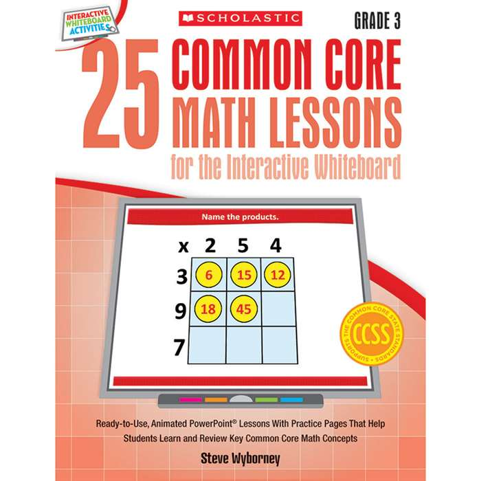 25 Common Core Gr 3 Math Lessons For The Interacti, SC-548618
