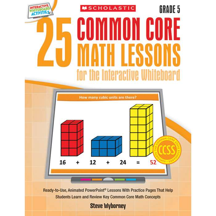 25 Common Core Gr 5 Math Lessons For The Interacti, SC-548620