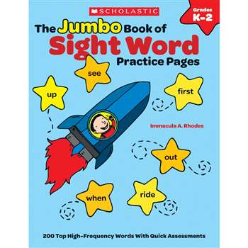 The Jumbo Book Of Sight Word Practice Pages By Scholastic Teaching Resources