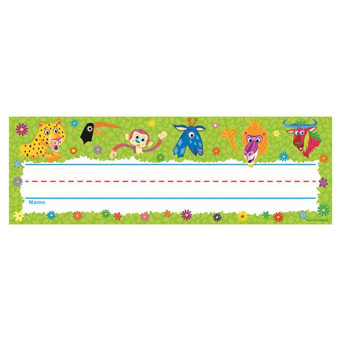 Jingle Jungle Name Plates By Scholastic Teaching Resources