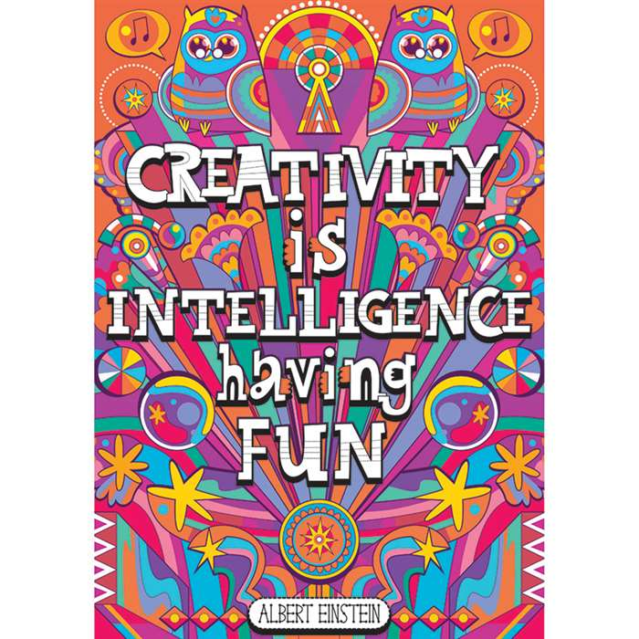 Shop Creativity Is Intelligence Pop Chart - Sc-565390 By Scholastic Teaching Resources