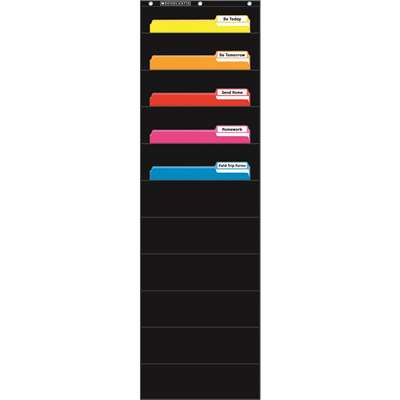 File Organizer Black Pocket Chart, SC-573276