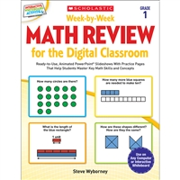 Week By Week Gr 1 Math Review For The Digital Clas, SC-577337