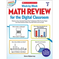 Week By Week Gr 2 Math Review For The Digital Clas, SC-577339